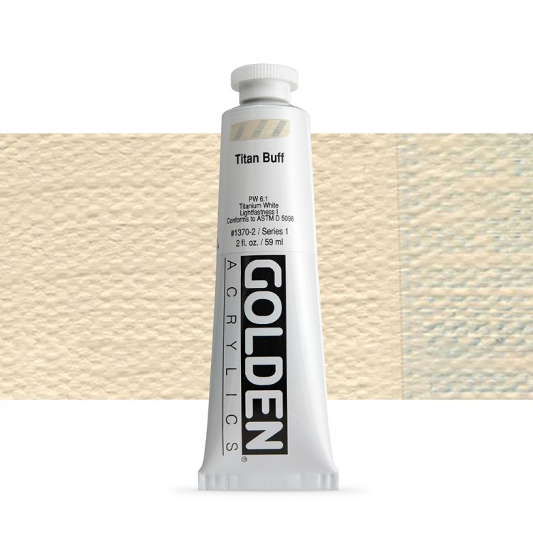 Golden : Heavy Body Acrylic Paint : 60ml : Titan Buff