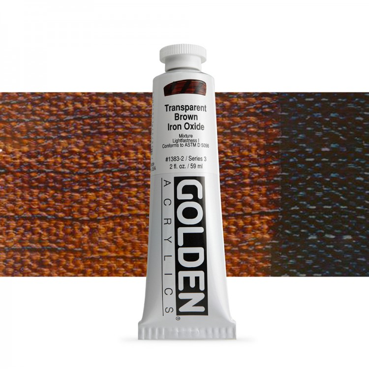 Golden : Heavy Body Acrylic Paint : 60ml : Trans Brown Iron Oxide Iii New