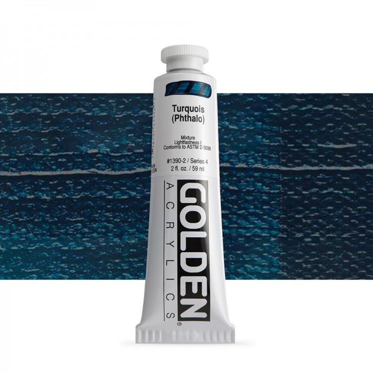 Golden : Heavy Body Acrylic Paint : 60ml : Turquoise Phthalo