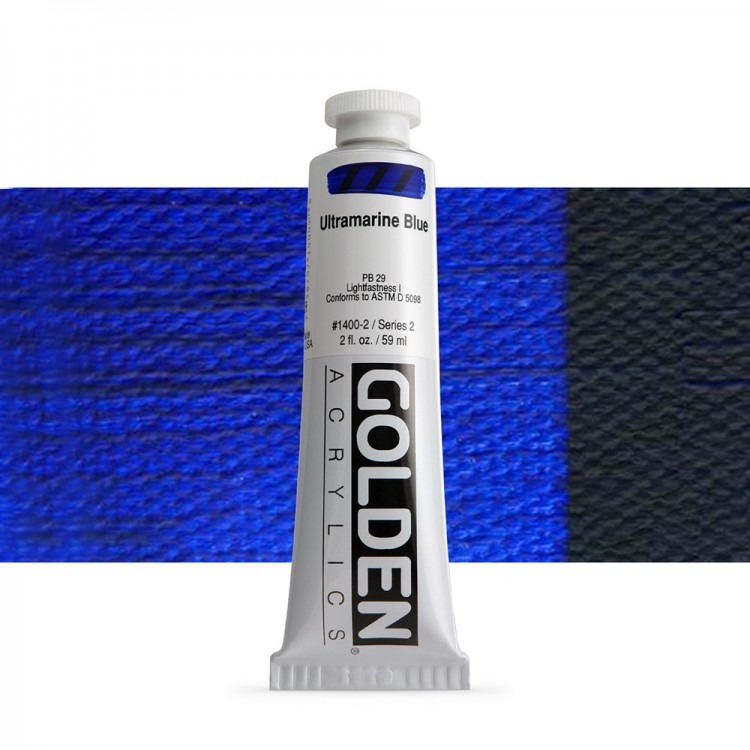Golden : Heavy Body Acrylic Paint : 60ml : Ultramarine Blue
