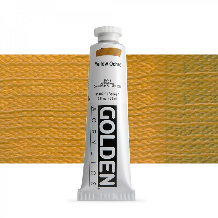 Golden : Heavy Body Acrylic Paint : 60ml : Yellow Ochre