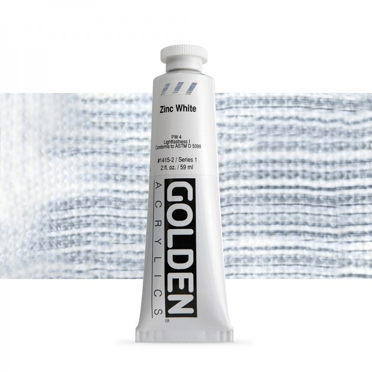 Golden : Heavy Body Acrylic Paint : 60ml : Zinc White