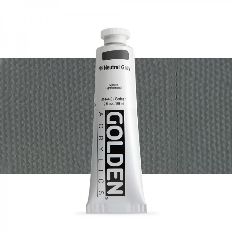 Golden : Heavy Body Acrylic Paint : 60ml : Neutral Grey No.4