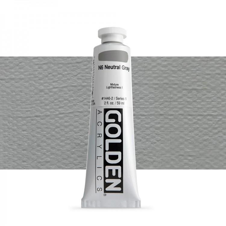Golden : Heavy Body Acrylic Paint : 60ml : Neutral Grey No.6