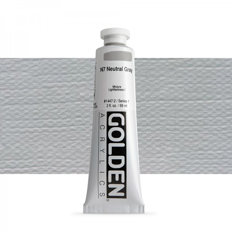 Golden : Heavy Body Acrylic Paint : 60ml : Neutral Grey No.7