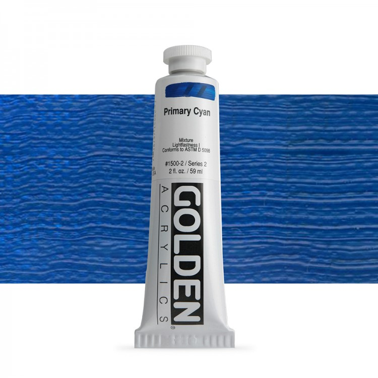 Golden : Heavy Body Acrylic Paint : 60ml : Primary Cyan