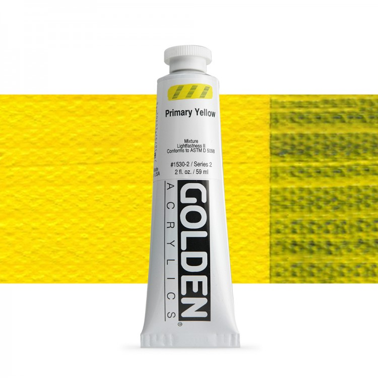 Golden : Heavy Body Acrylic Paint : 60ml : Primary Yellow