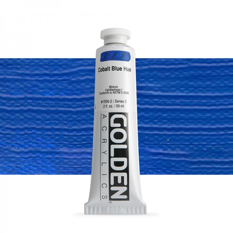 Golden : Heavy Body Acrylic Paint : 60ml : Cobalt Blue Hue