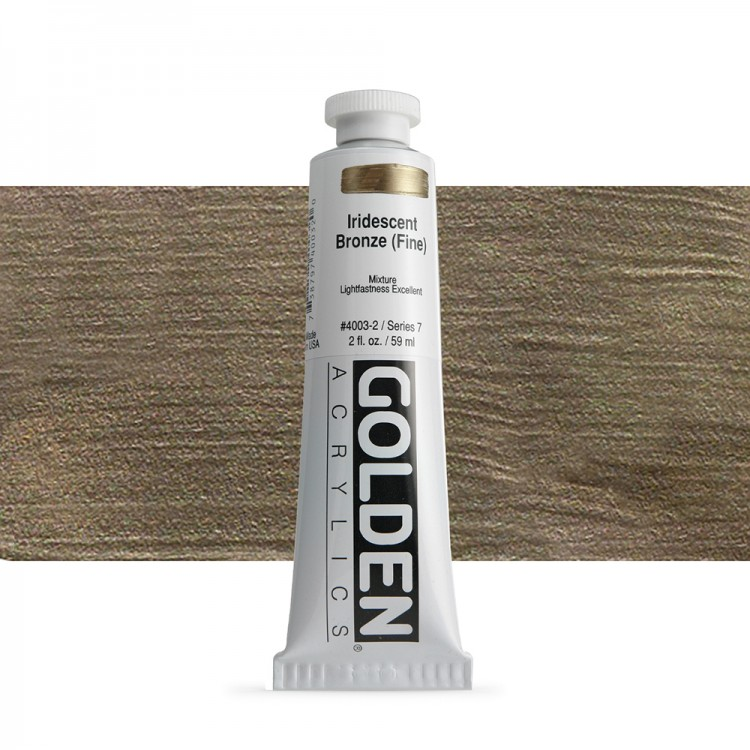 Golden : Heavy Body Acrylic Paint : 60ml : Bronze Fine Iridescent
