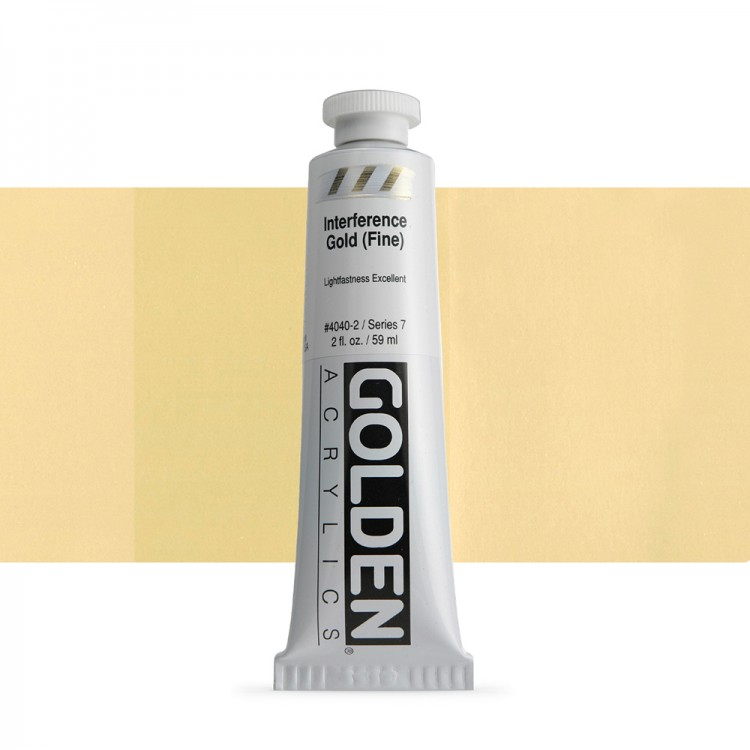 Golden : Heavy Body Acrylic Paint : 60ml : Gold Fine Interference