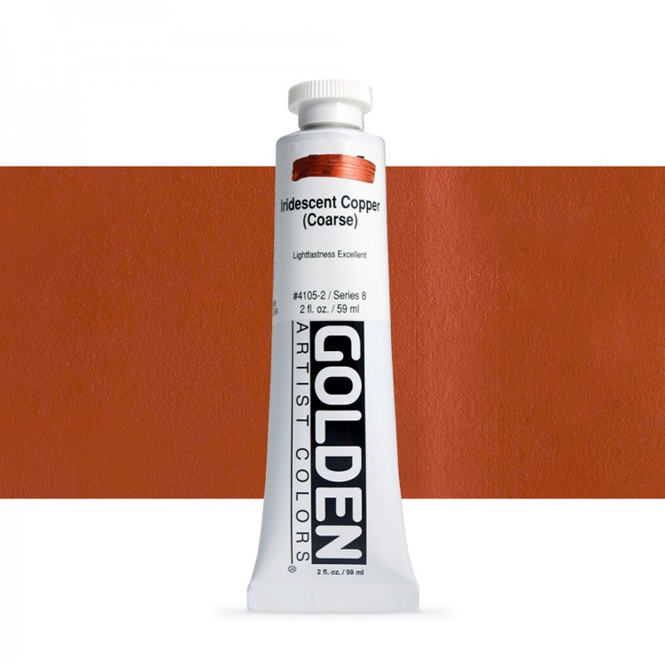 Golden : Heavy Body Acrylic Paint : 60ml : Copper Coarse Iridescent
