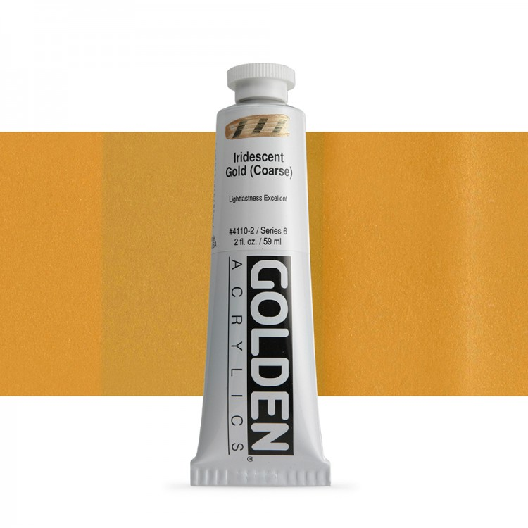 Golden : Heavy Body Acrylic Paint : 60ml : Gold Coarse Iridescent
