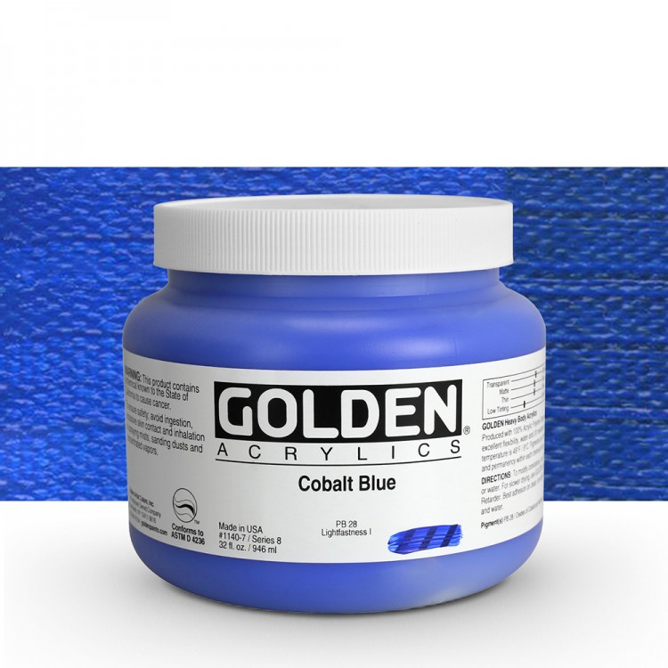 Golden : Heavy Body Acrylic Paint : 946ml : Cobalt Blue