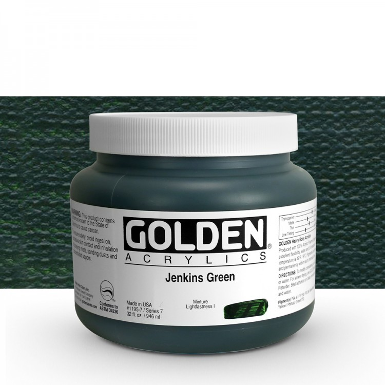 Golden : Heavy Body Acrylic Paint : 946ml : Jenkins Green