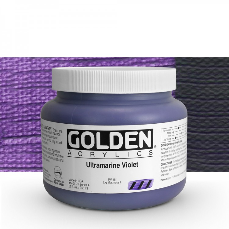 Golden : Heavy Body Acrylic Paint : 946ml : Ultramarine Violet