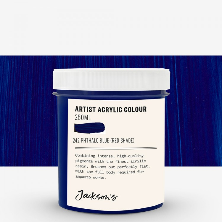 Jackson's : Artist Acrylic Paint : 250ml : Phthalo Blue Red Shade