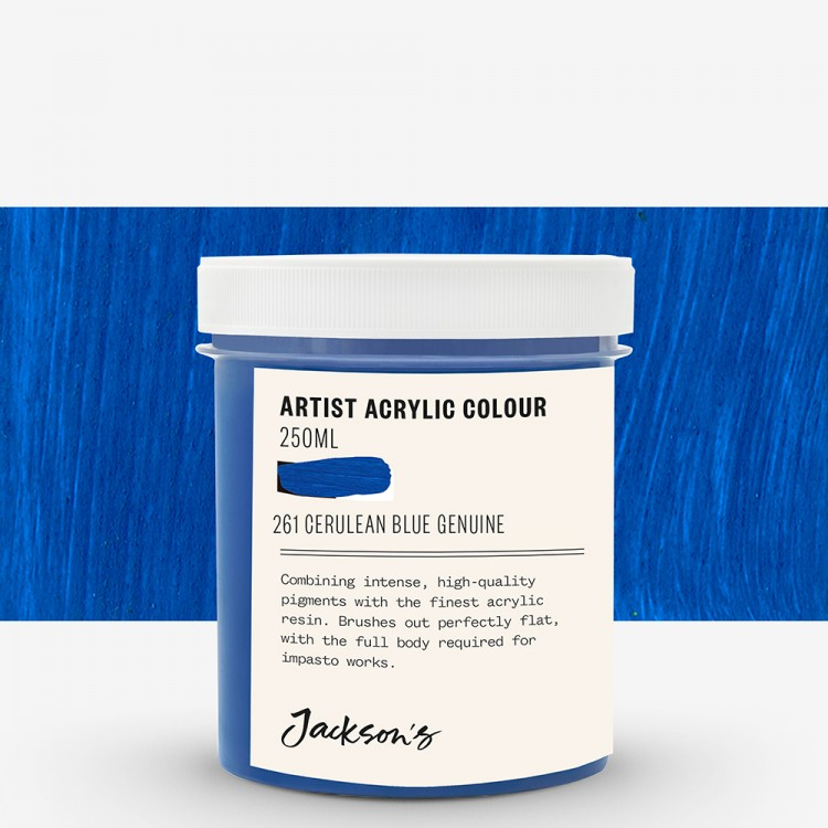 Jackson's : Artist Acrylic Paint : 250ml : Cerulean Blue Genuine