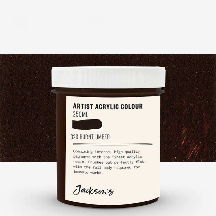 Jackson's : Artist Acrylic Paint : 250ml : Burnt Umber