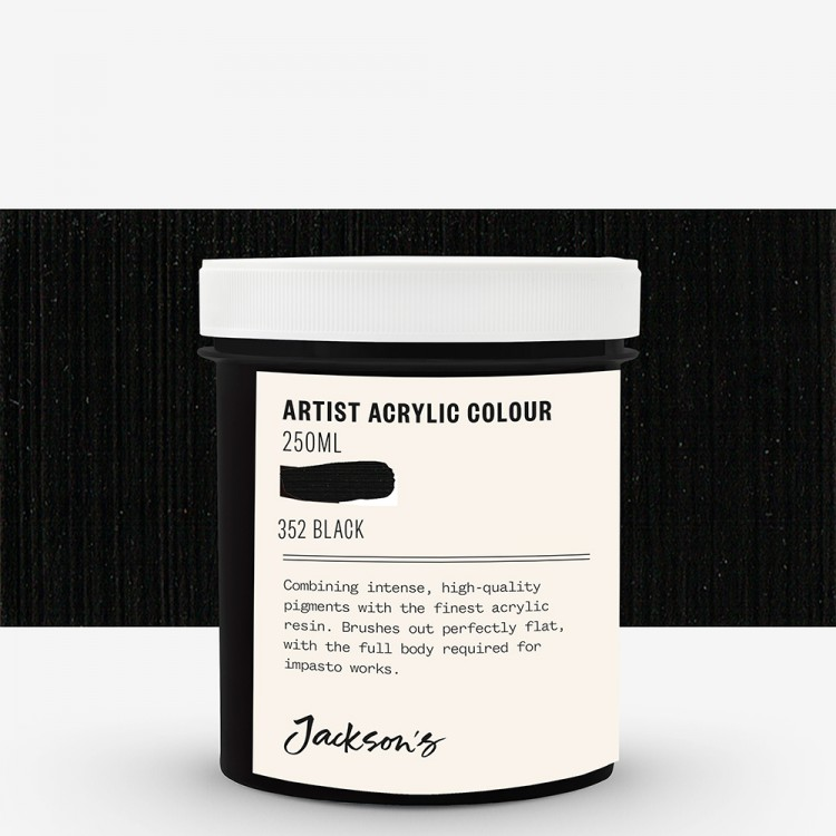 Jackson's : Artist Acrylic Paint : 250ml : Black