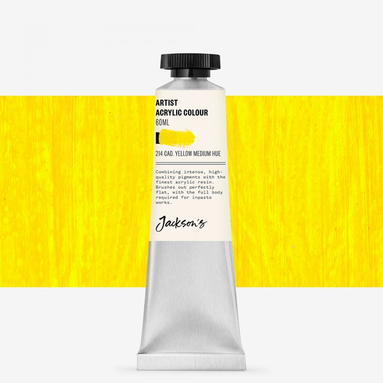 Jackson's : Artist Acrylic Paint : 60ml : Cadmium Yellow Medium Hue