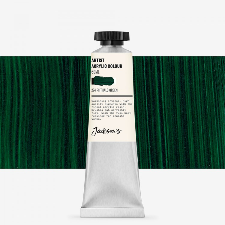 Jackson's : Artist Acrylic Paint : 60ml : Phthalo Green
