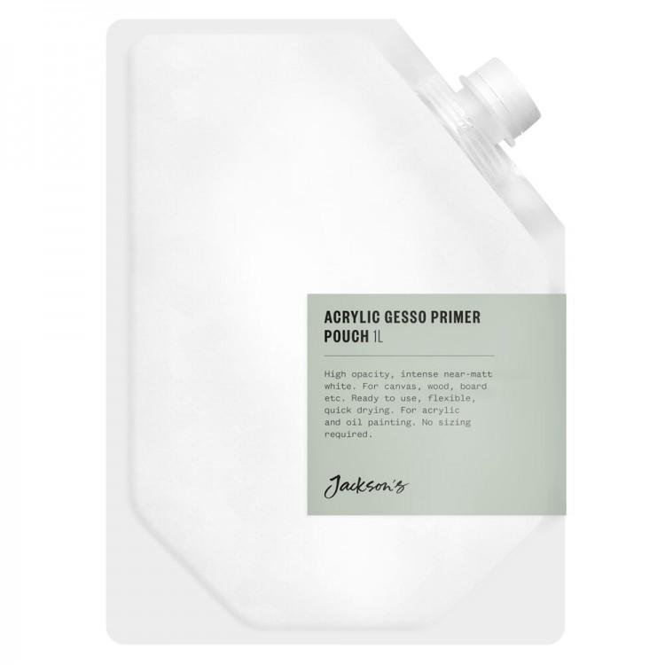 Jackson's : Acrylic Gesso Primer : Pouch : 1 litre