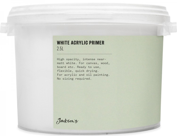 Jackson'S : Acrylic Primer : 2.5 Litre : By Road Parcel Only