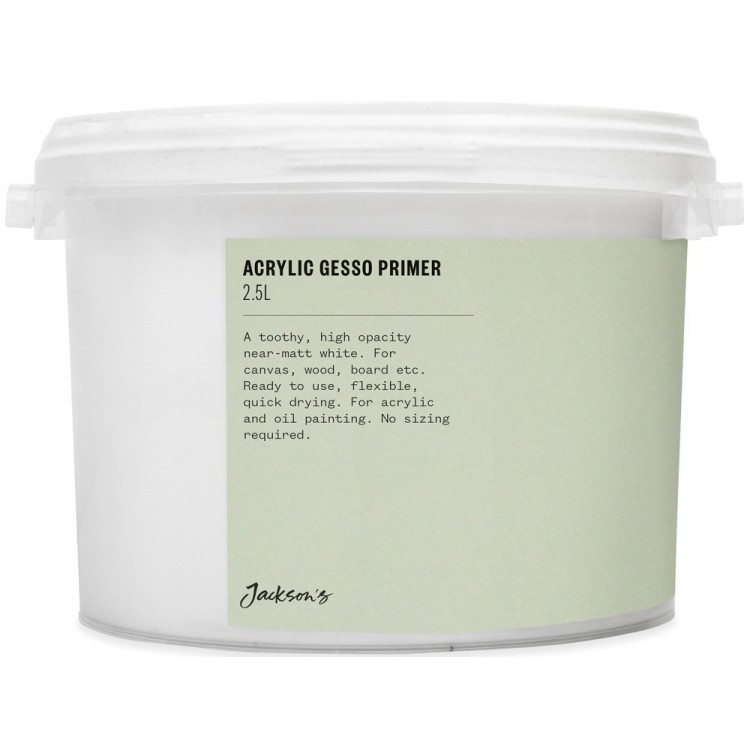 Jackson'S : Acrylic Gesso Primer : 2.5 Litre : By Road Parcel Only