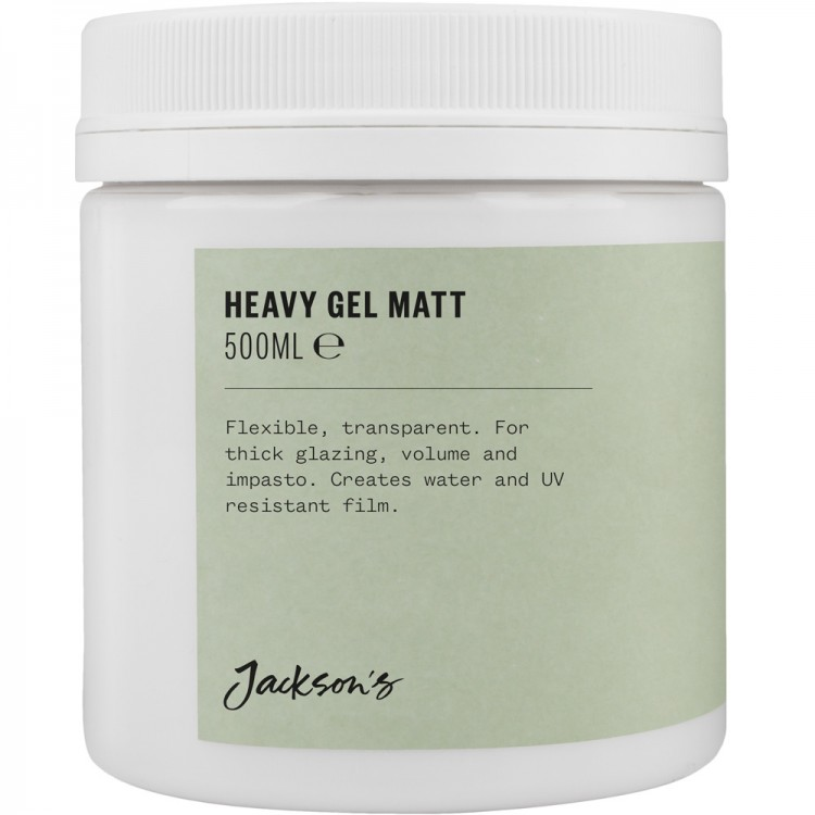 Jacksons : Acrylic Heavy Gel Matt Medium : 500ml