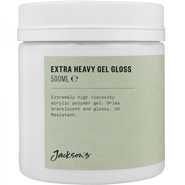 Jacksons : Acrylic Extra Heavy Gel Gloss Medium : 500ml