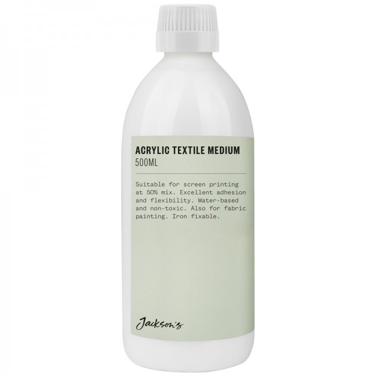Jacksons : Acrylic Textile Medium (Silk Screen) : 500ml