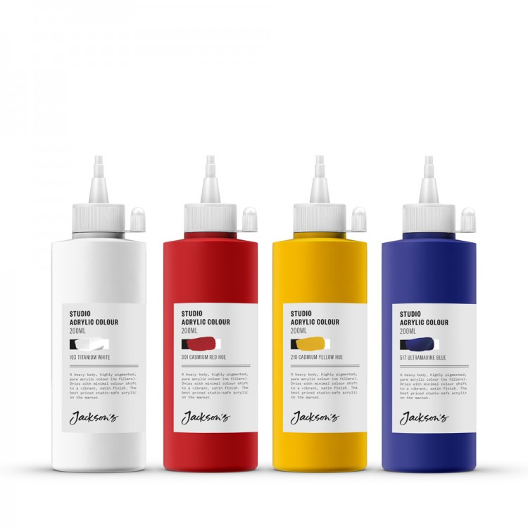Jackson's : Studio Acrylic Paint : 200ml : Set of 4