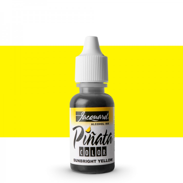 Jacquard : Piñata : Alcohol Ink : 0.5oz (14ml) : Sunbright Yellow 002 : Ship By Road Only