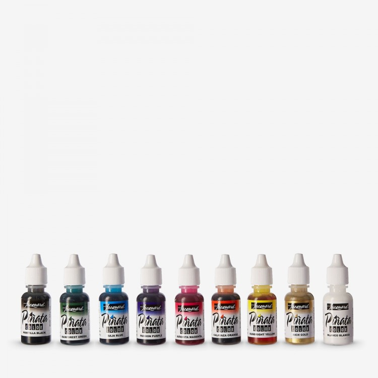 Jacquard : Piñata : Alcohol Ink : 0 5oz (14ml) : Exciter Set of 9 : Ship By  Road Only