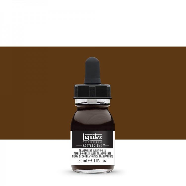 Liquitex : Professional : Acrylic Ink : 30ml : Transparent Burnt Umber