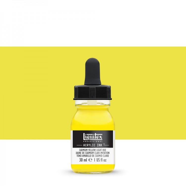 Liquitex : Professional : Acrylic Ink : 30ml : Cad Yel Light Hue