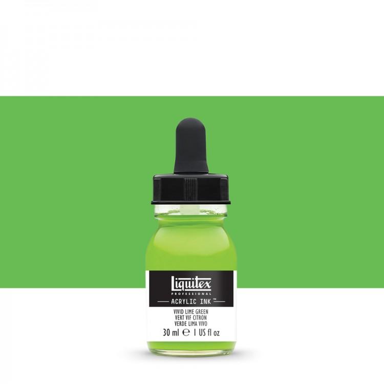 Liquitex : Professional : Acrylic Ink : 30ml : Vivid Lime Green
