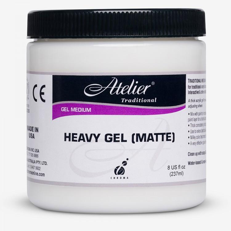 Atelier : Acrylic Medium : 250ml : Heavy Gel : Matte