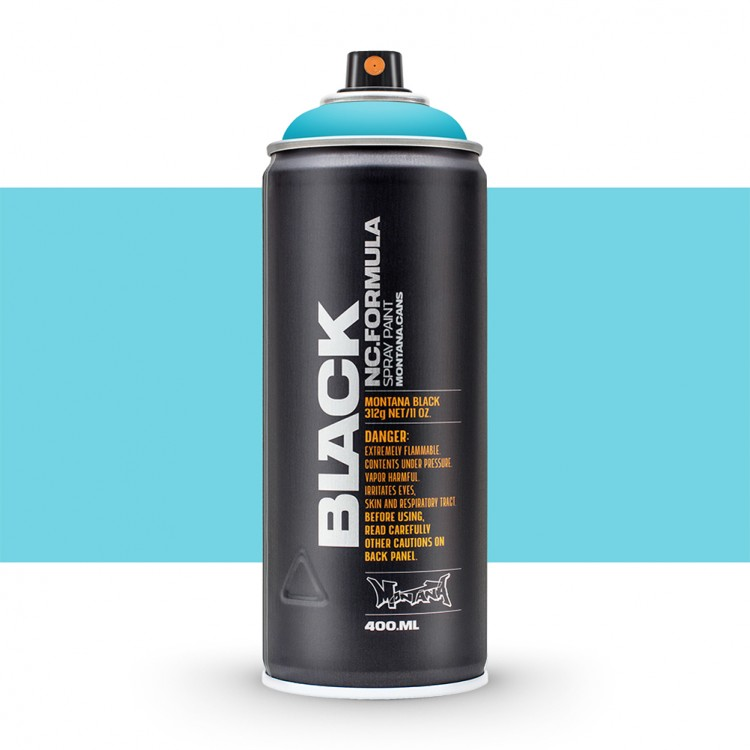 Montana : Black : 400ml : True Cyan : Ship By Road Only