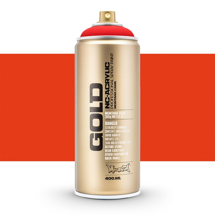 Montana : Gold : 400ml : Fluorescent Fire Red : Opaque : By Road Parcel Only