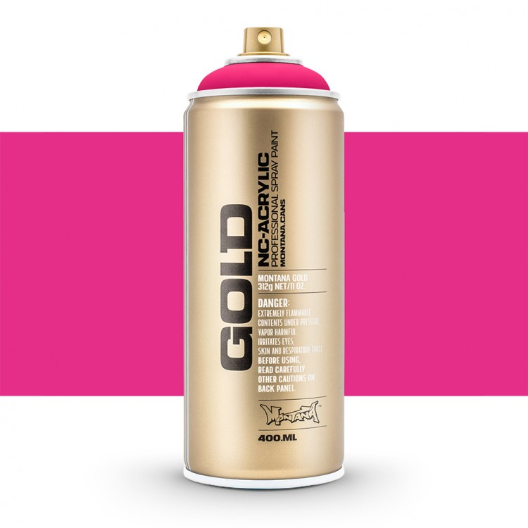 Montana : Gold : 400ml : Fluorescent Gleaming Pink : Opaque : Ship By Road Only