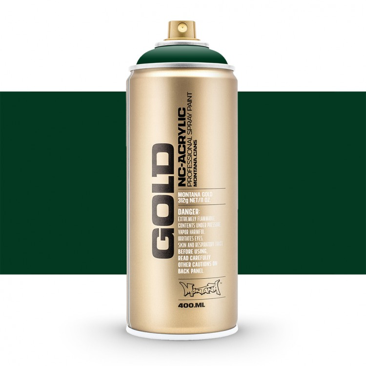 Montana : Gold : 400ml : Jungle Green : Opaque : By Road Parcel Only