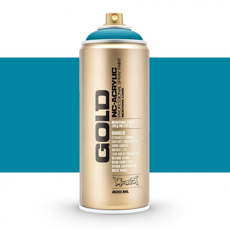 Montana : Gold : 400ml : Aqua : Opaque : Ship By Road Only