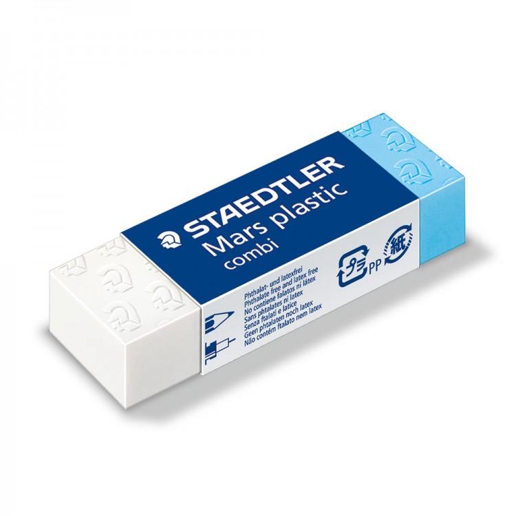 Staedtler : Combi Mars Plastic Eraser White & Blue