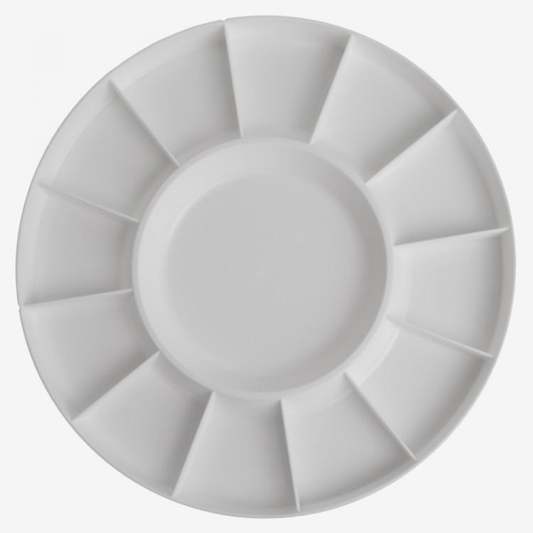 Studio Essentials : Circular Plastic Palette : 12in Diameter : 13 Well
