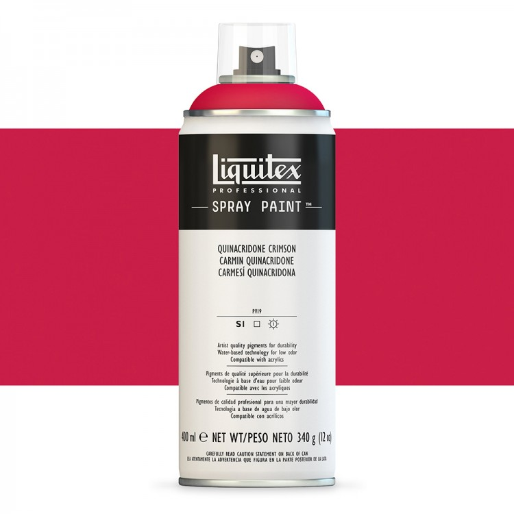 Liquitex : Professional Spray Paint : 400ml : Quinacridone Crimson (Road Shipping Only)