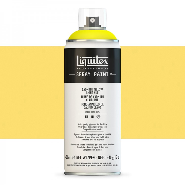 Liquitex : Professional Spray Paint : 400ml : Cadmium Yellow Light Hue (Road Shipping Only)