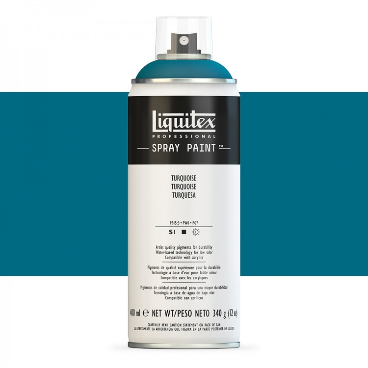 Liquitex : Professional : Spray Paint : 400ml : Turquoise : By Road Parcel Only