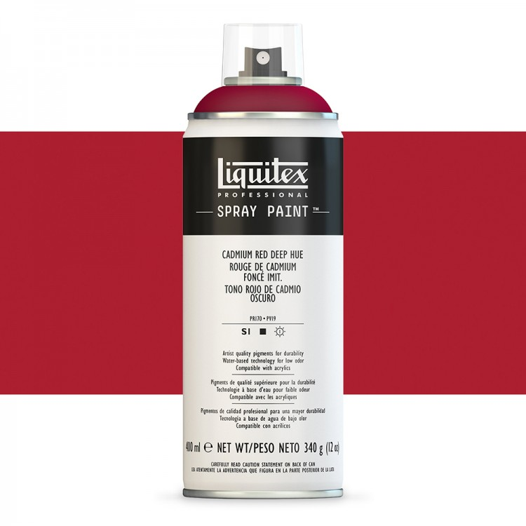Liquitex : Professional Spray Paint : 400ml : Cadmium Red Deep Hue (Road Shipping Only)
