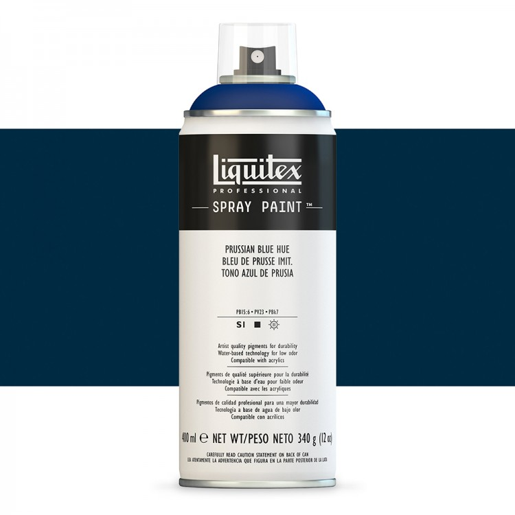 Liquitex : Professional : Spray Paint : 400ml : Prussian Blue Hue (By Road Parcel Only)